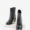 Кожени дамски боти в черен цвят-484013