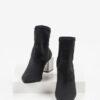 Велурени дамски боти в черен цвят-221634