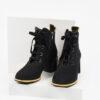 Велурени дамски боти в черен цвят-482700