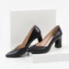 Кожени дамски обувки в черен цвят-241107