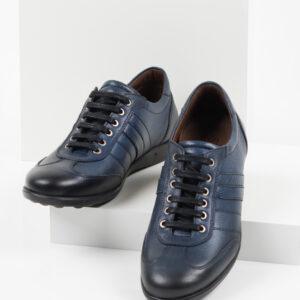 Ежединевни мъжки обувки в син цвят-0414245