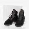 Велурени дамски боти в черен цвят-141949-1