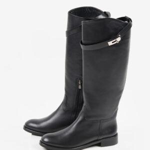 Ежединевни дамски ботуши в черен цвят-241228-L