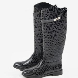 Ежединевни дамски ботуши в черен цвят-241228-LRG