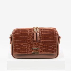 Ежедневна дамска чанта в кафяв цвят-725305