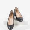 Змийски дамски обувки в черен цвят-230267