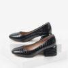 Кожени дамски обувки в черен цвят-160557LCR