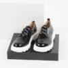 Лачени дамски обувки в черен цвят-141001WHITE