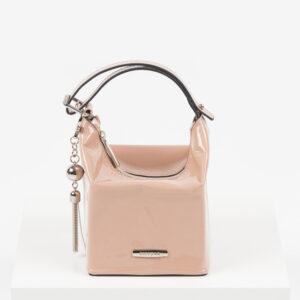 Лачена дамска чанта в розов цвят-725393-1
