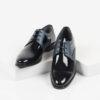 Лачени мъжки обувки в черен цвят-281510