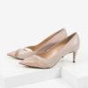 Кожени дамски обувки в бежов цвят-4847220