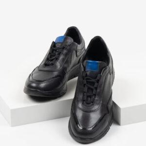 Ежединевни мъжки обувки в черен цвят-061478
