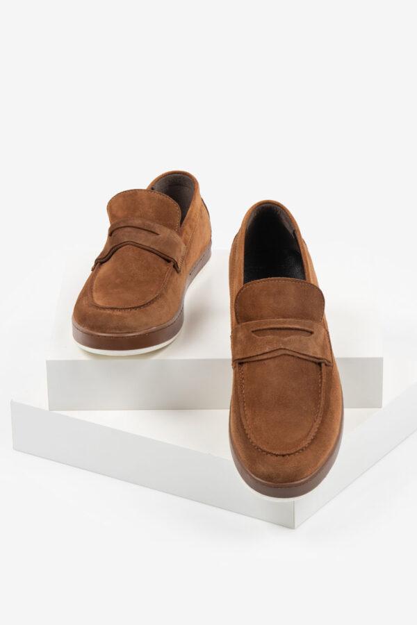 Ежединевни мъжки обувки в камел цвят-062071