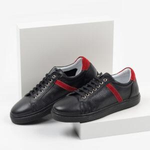 Ежединевни мъжки обувки в черен цвят-0430122