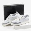 Мъжки обувки в бял цвят-0430119