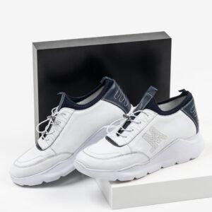 Мъжки спортни обувки в бял цвят-28Спортни мъжки обувки18