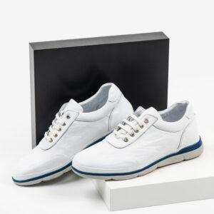Ежединевни мъжки обувки в бял цвят-0430153