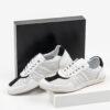 Кожени мъжки обувки в бял цвят-0430113