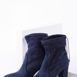 Елегантни дамски боти в син цвят-350412