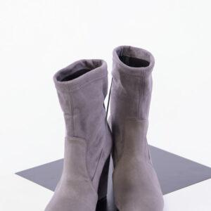 Елегантни дамски боти в сив цвят-350412