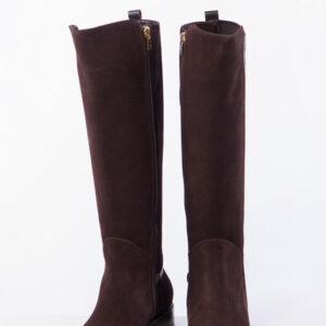 Ежедневни дамски ботуши в кафяв цвят-484007