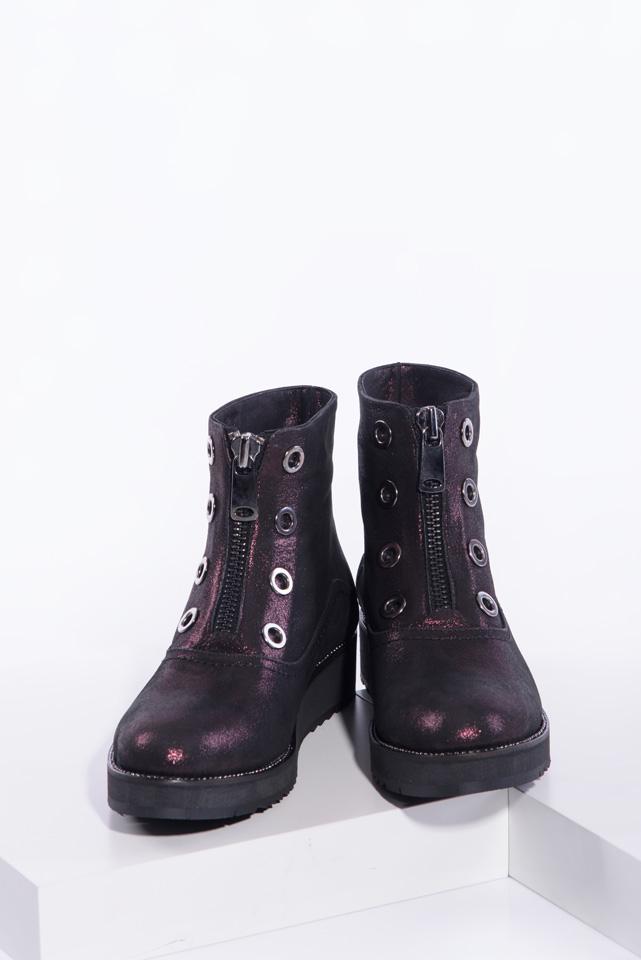 Ежединевни дамски боти в бордо цвят-141108