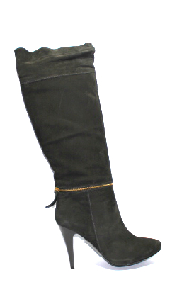 Елегантни дамски ботуши в сиво-987601
