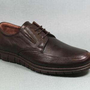 Удобни мъжки обувки в кафяв цвят-0415104