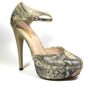 Дамски обувки в златен цвят-240569